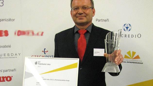 Podnikatelem roku 2013 se za Jihomoravský kraj stal ředitel společnosti Bioveta Libor Bittner.