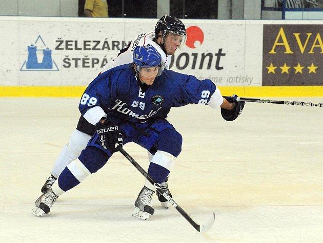 Hokejový obránce Komety Brno Michal Kempný.