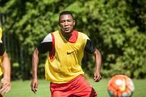 Konžský fotbalista Franci Litsingi.