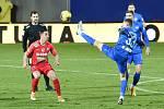Brno 22.1.2021 - domácí FC Zbrojovka Brno v červeném proti FC Slovan Liberec (Mario Pourzitidis)