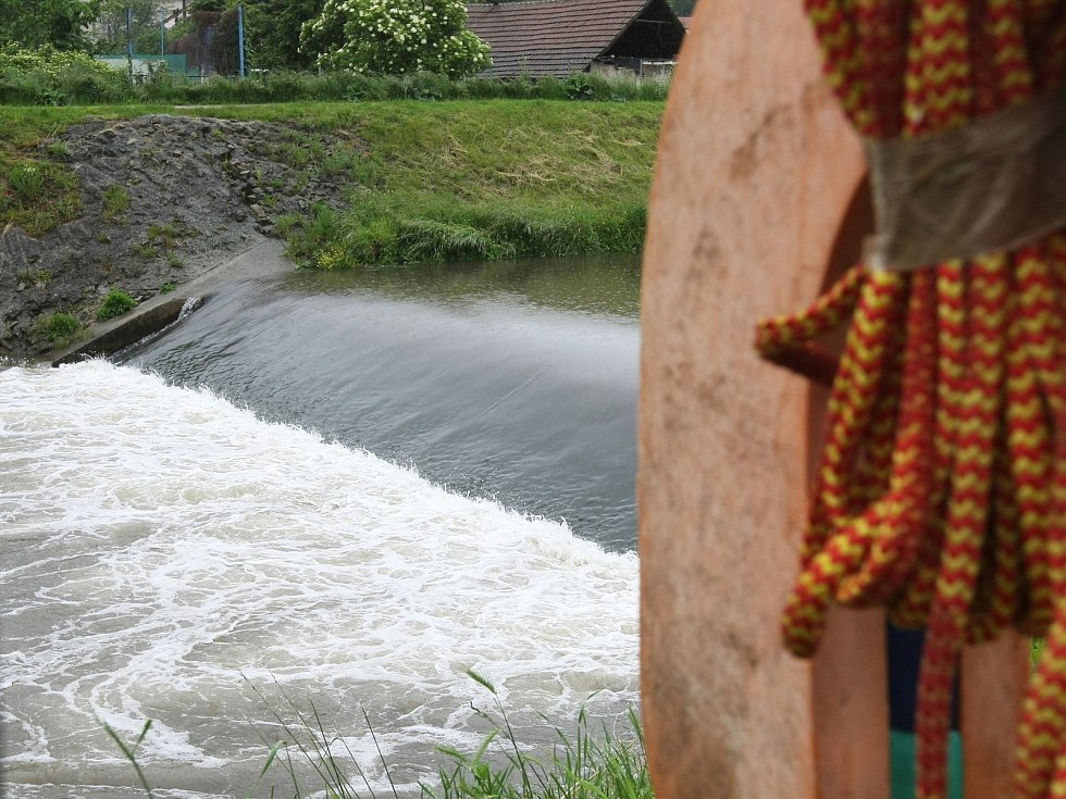 Řeka Svitava v Brně v pondělí 3. 6. 2013.