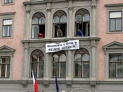 Akce Dělnické strany na prvního máje v Brně na náměstí svobody