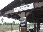Parková dráha u modřické Olympie.