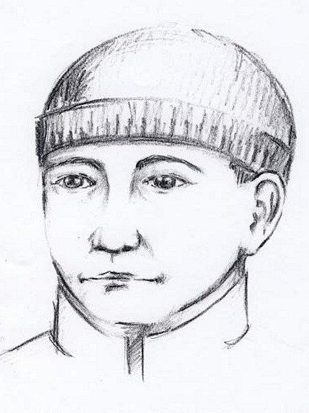 Identikit pachatele, který vBřeclavi přepadl směnárníka.