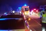 Noční vážná nehoda motorkáře mezi Kuřimí a Českou. Srazil se s jelenem.
