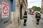 Hasiči a protiplynová jednotka zasahovali v ulici Milady Horákové.
