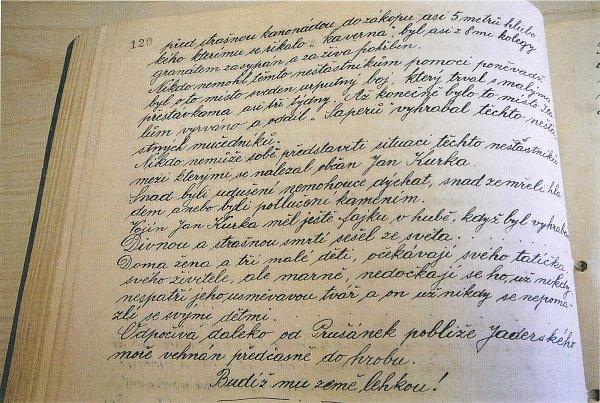 Zápis od prušánského kronikáře Petra Ivičiče.