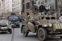 Vojenská přehlídka v Brně připomenula výročí osvobození Brna na konci Druhé světové války.