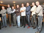 Při zápase s Libercem dostali ocenění bývalí hráči Zbrojovky Brno, kteří vybojovali v roce 1990 poslední brněnský titul.