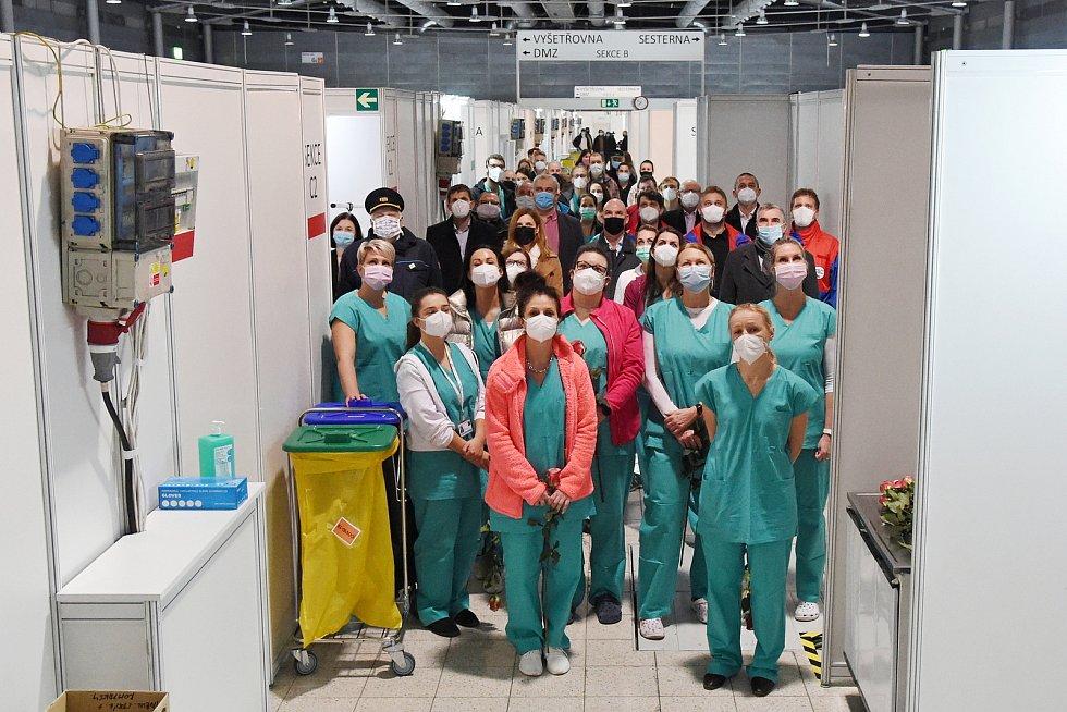 9.11.2020 - otevření provizorní nemocnice na brněnském výstavišti v pavilonu G2