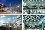 Benthem Crouwel Architects (Amsterdam): Haag hlavní nádraží, Nizozemsko. Vizualizace.