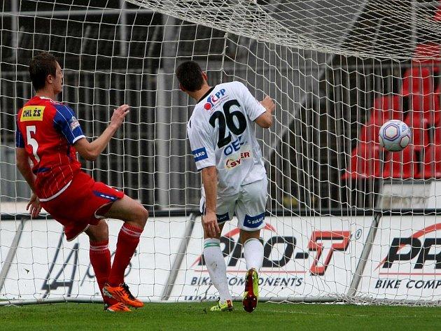 Fotbalisté Zbrojovky Brno v utkání s Jabloncem - ilustrační foto.