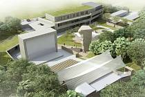 Vizualizace k projektu znovuoživení areálu letního kina Tišnov.