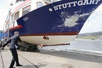 Křest nové lodi Stuttgart na brněnské přehradě.