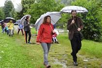 Turistika v dešti, ilustrační foto.