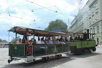 Historická tramvaj Caroline.