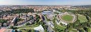 Vizualizace plánovaného nového hokejového stadionu za Lužánkami.
