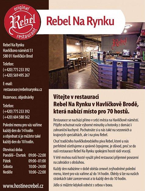 Restaurace Rebel Na Rynku, Havlíčkův Brod