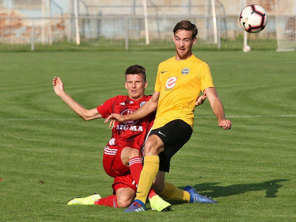 Rosice 27.08.2019 - 2. kolo MOL CUPU mezi domácím Slovanem Rosice ve žlutém a Sigmou Olomouc