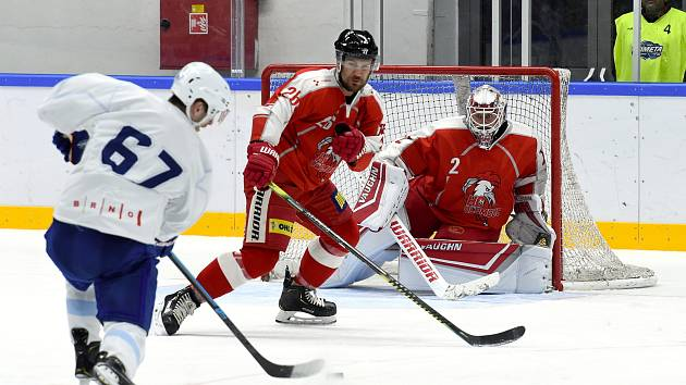 Brno 15.08.2019 - HC Kometa Brno v bílém proti HC Olomouc