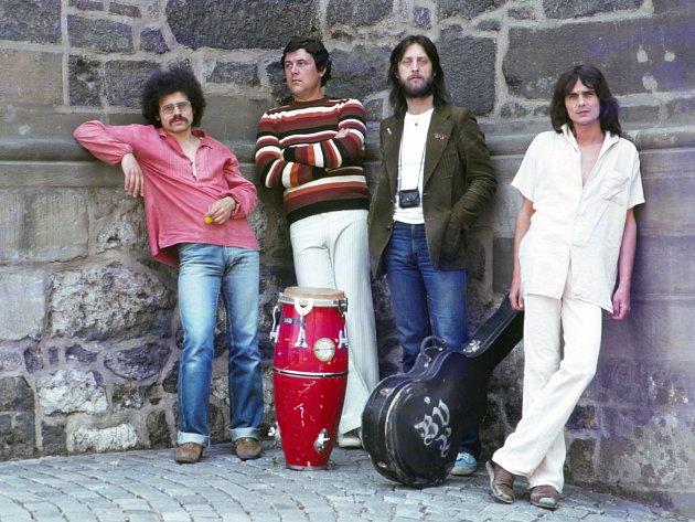 Na archivním snímku zleva Zdeněk Němeček, Michal Polák, Jiří Vondrák a Antonín Bodlák.