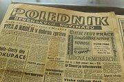 Výstava dobového tisku ze srpna 1968 v Moravské zemské knihovně