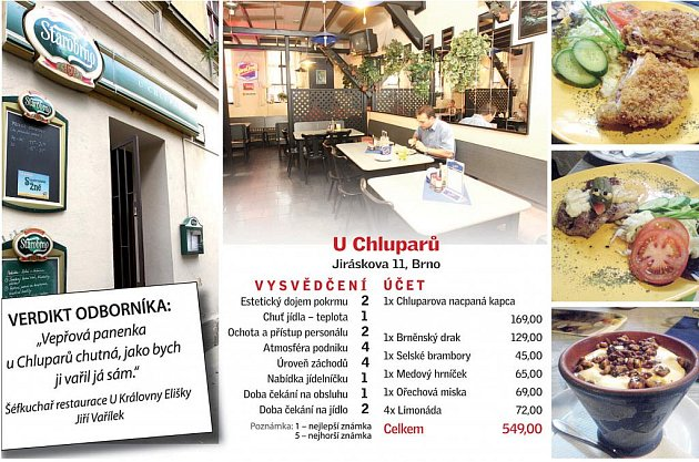 Brněnská restaurace UChluparů.