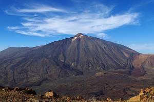 Nejvyšší hora Španělska - sopka Pico del Teide na kanárském ostrově Tenerife. Ilustrační foto.