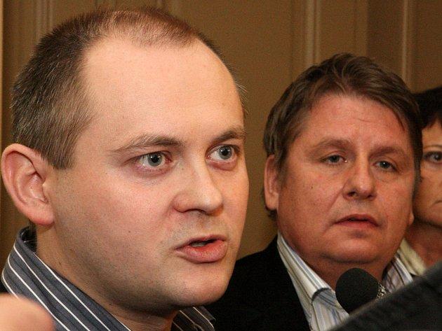 Projednávámí koalice - Michal Hašek a Milan Venclík