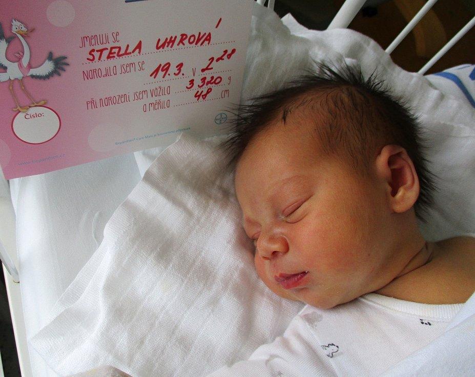Stella Uhrová, 19. 3. 2021, Lanžhot, Nemocnice Břeclav, 3320 g, 48 cm