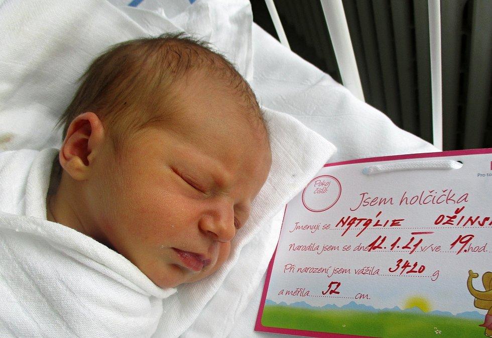 Natálie Ožinská, 12. 1. 2021, Lanžhot, Nemocnice Břeclav, 3420 g, 52 cm
