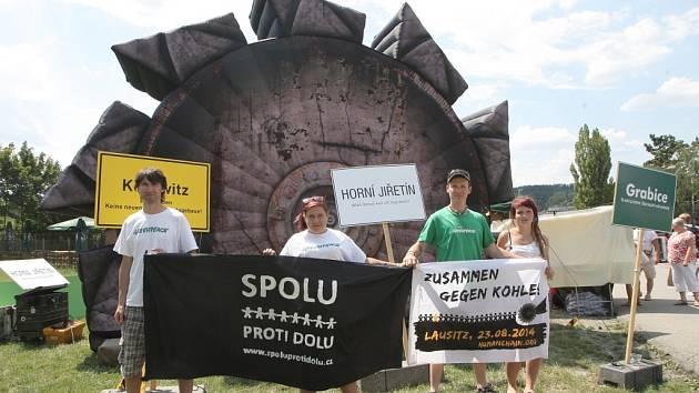 Maketa rypadla na Brněnské přehradě.