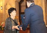 Laureátům Cen města Brna pro rok 2015 gratuloval primátor Petr Vokřál.