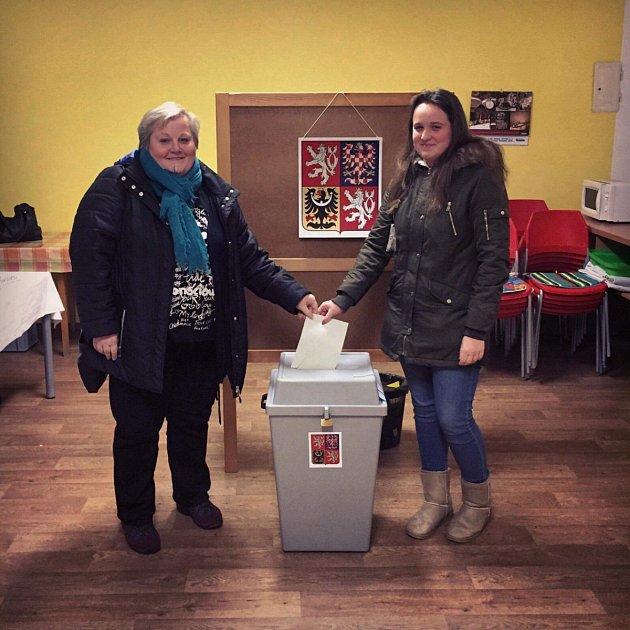 Do jedné zvolebních místností vHustopečích na Břeclavsku zavítala iTereza Vaculíková. Byly to její teprve třetí volby.