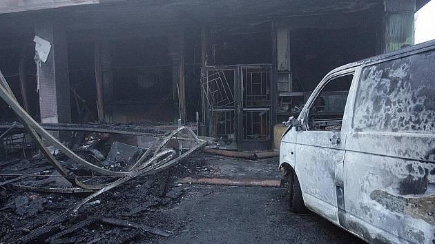 Požár restaurace Havana v brněnské městské části Líšeň.