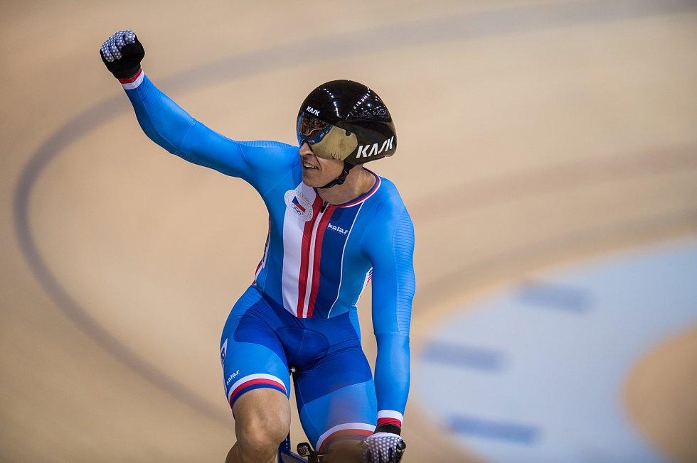 Dráhový cyklista brněnské Dukly vyhrál na Evropských hrách pevný kilometr.