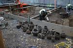 Archeologové bádají v Orlí ulici v Brně. Foto: Archaia Brno