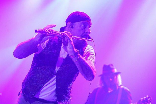 Po čtyřech letech na jižní Moravu zavítal frontman britské rockové skupiny Jethro Tull Ian Anderson.