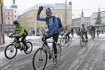 Cyklisté tradičně přivítali nový rok vyjížďkou na přehradu.