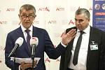 Návštěva premiéra a ministra zdravotnictví ve Fakultní nemocnici u sv. Anny v Brně - premiér Andrej Babiš a ředitel FN Bohunice Jaroslav Štěrba.