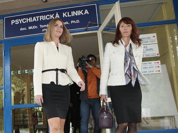 Kateřina Zemanová vyrazila na prohlídku Psychiatrické kliniky Fakultní nemocnice vbrněnských Bohunicích.