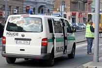 Nehoda v Lidické ulici v Brně.