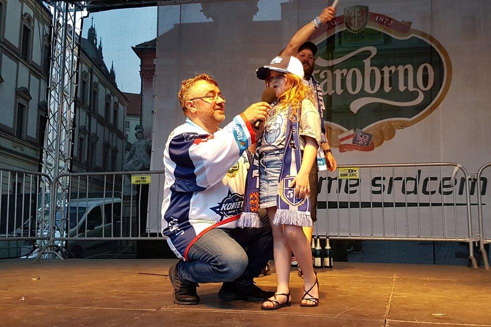 Fanoušci v Brně slavili výhru Komety.