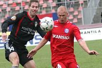 Druhý gól Brna vstřelil Aleš Besta (v červeném).