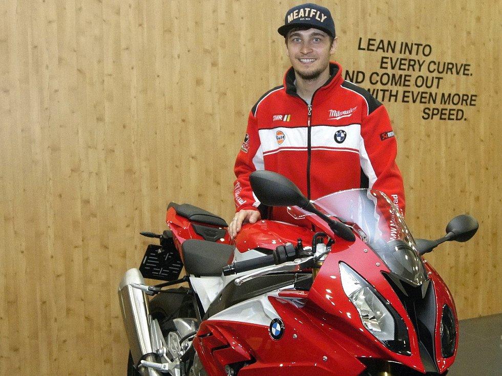 Motocyklový jezdec Karel Abraham.