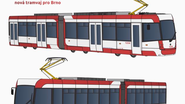Ulicemi Brna se budou prohánět bílo-červení Draci. Veřejnost vybrala jméno a design nových tramvají.