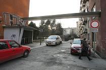Vnitroblok v brněnské ulici Zahradnická.
