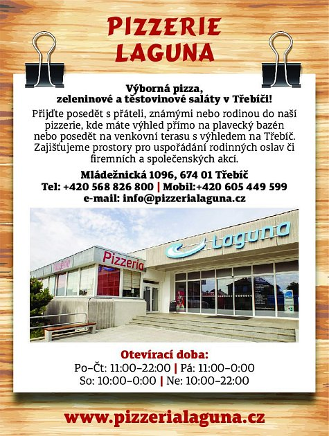 24. Pizzerie Laguna Třebíč