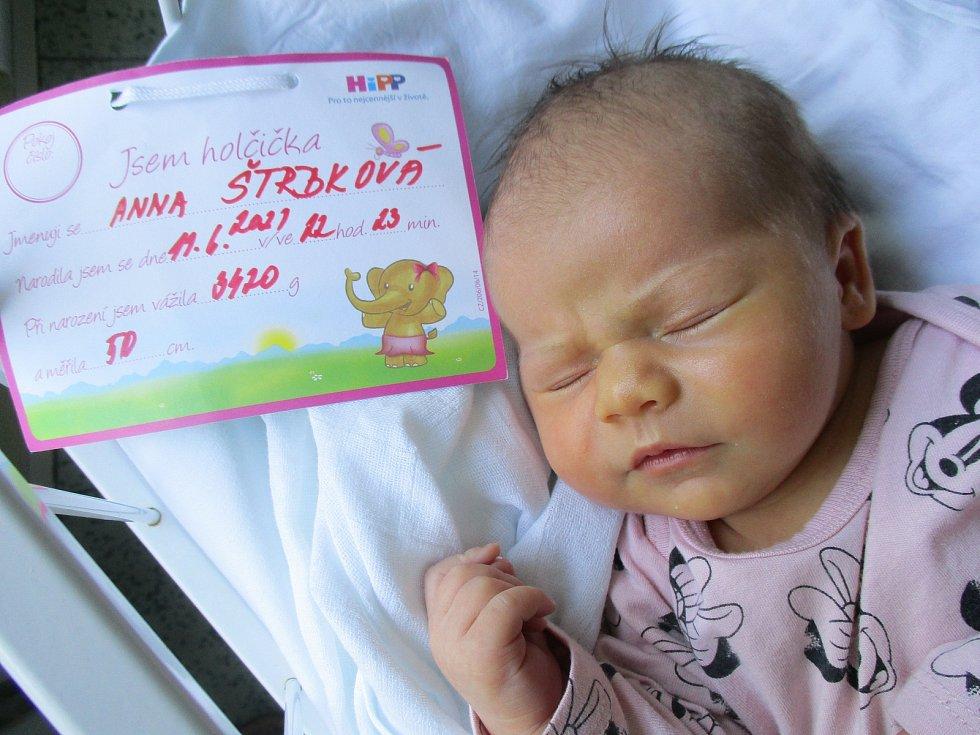 Anna Štrbková, 11. června 2021, Pasohlávky, Nemocnice Břeclav, 3420 g, 50 cm