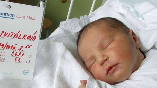 Anna Svitálková, 19. října 2020, Podivín, Nemocnice Břeclav, 3623 g, 52 cm